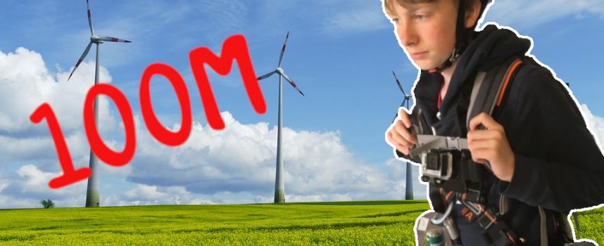 Je monte dans une éolienne